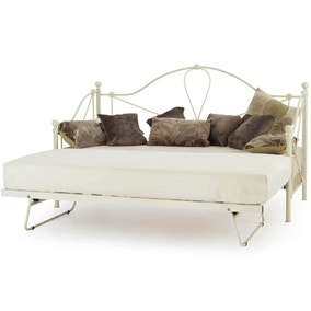 Lyon Ivory Single Day Bed with Guest Bed