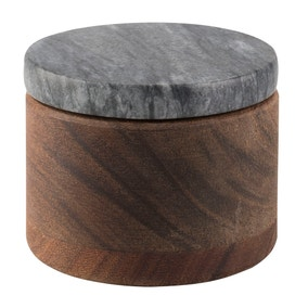 Sabatier Maison Wooden Salt Keeper with Black Lid