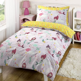 Under the Sea Mermaid Duvet Cover and Pillowcase Set
