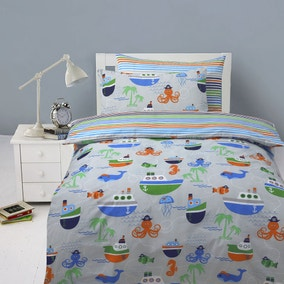 Ahoy Duvet Cover and Pillowcase Set