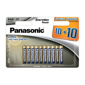 Panasonic Everyday Power 10 + 10 AAA Batteries