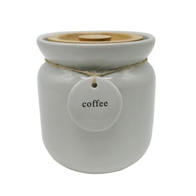 Grey Hang Tag Coffee Canister