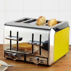 Elements 4 Slice Yellow Toaster