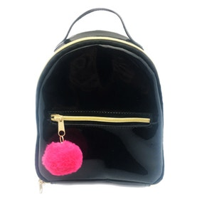 Polar Gear Black PVC Lunch Bag With Pom Pom