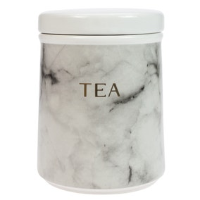 Marble Effect Tea Canister