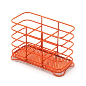 Spectrum Orange Wire Cutlery Holder