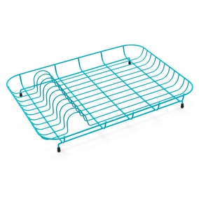 Spectrum Teal Wire Plate Rack