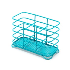 Spectrum Teal Wire Cutlery Holder