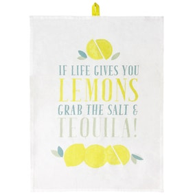 Candy Rose Slogan Tea Towel