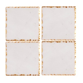 Marble Gold Edge Pack of 4 Coasters