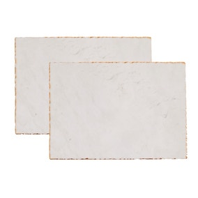 Marble Gold Edge Pack of 2 Placemats
