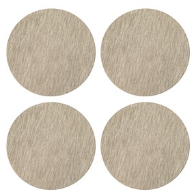 Pack of 4 Faux Leather Champagne Placemats
