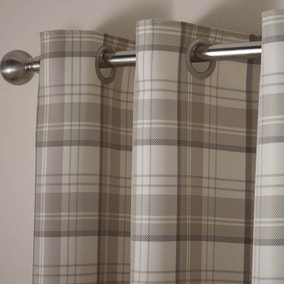 Balmoral Natural Lined Eyelet Curtains