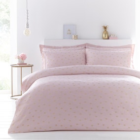 Madison Woven Pink Duvet Cover and Pillowcase Set