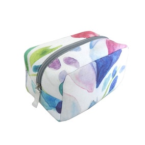 Mila Impressionist Abstract Cosmetic Bag