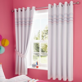 Tassel Blackout Eyelet Curtains