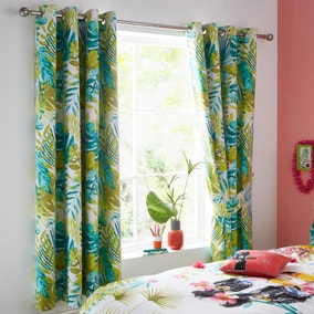 Totally Tropical Blackout Eyelet Curtains
