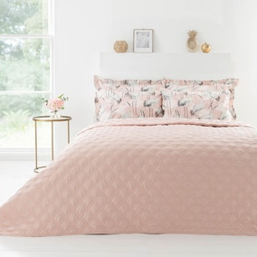 Geo Quilted Reversible Bedspread