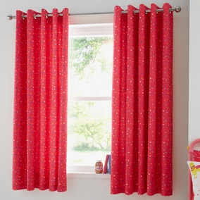 Llama Blackout Eyelet Curtains