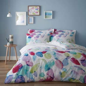 Mila 100% Cotton Reversible Duvet Cover and Pillowcase Set
