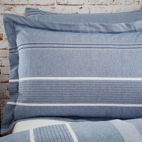 Willington Blue Stripe 100% Cotton Woven Oxford Pillowcase