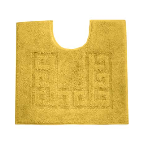 Luxury Cotton Non-Slip Mustard Pedestal Mat