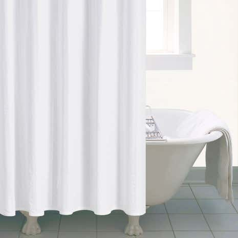 Seersucker shower curtain