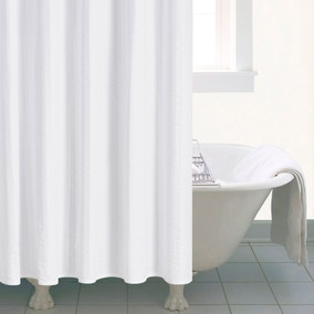 white shower curtain bathroom. Seersucker Shower Curtain White Bathroom