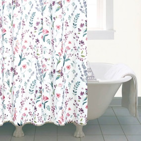 Botanical Meadow Shower Curtain