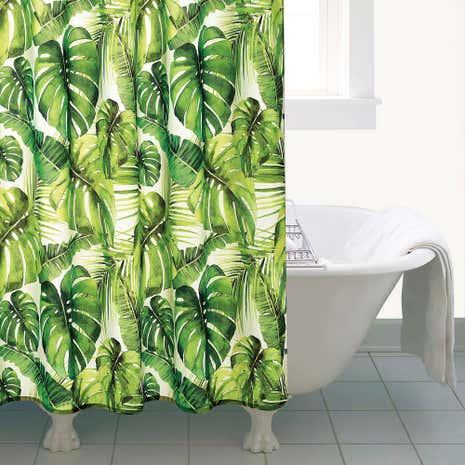 Tropical Leaf Shower Curtain