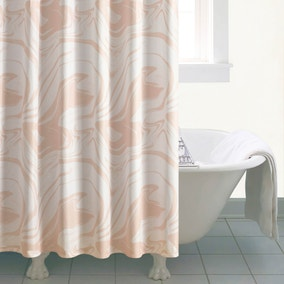 5A Fifth Avenue Marble Shower Curtain