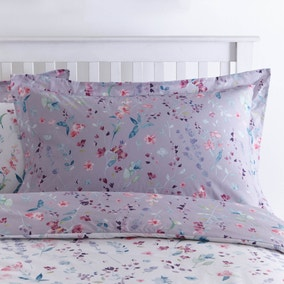 Botanical Meadow Purple Oxford Pillowcase