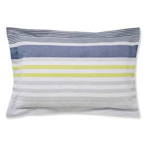 Connor Woven 100% Cotton Blue Oxford Pillowcase