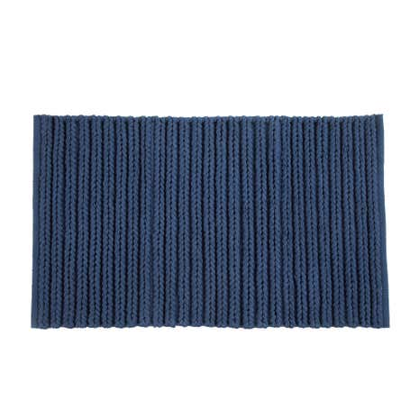 Cable Knit Navy Bath Mat