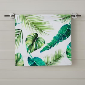 Tropical Leaf Digitally Printed Hand Towel