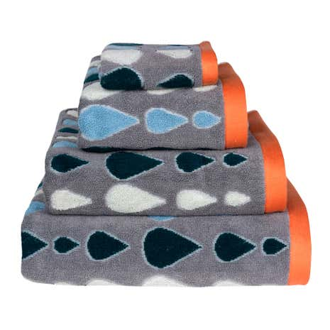 Donna Wilson Rain Drops Grey Hand Towel