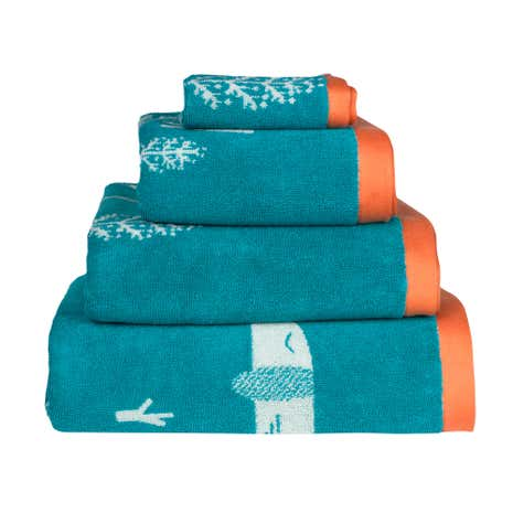 Donna Wilson Sausage Dogs Green Hand Towel