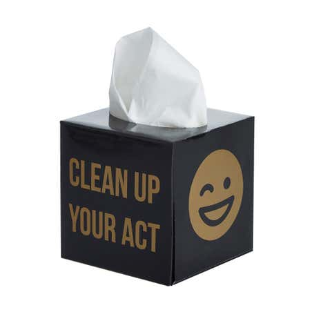 Emoji Black Tissue Box