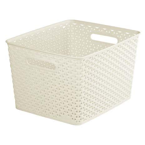curver 18l vintage white basket