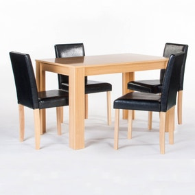 Cambridge Rubberwood 4 Seater Dining Set