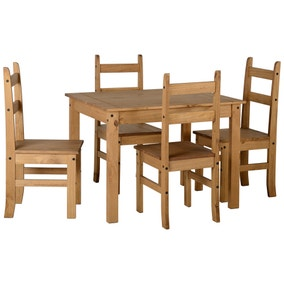 Corona Pine 4 Seater Dining Set