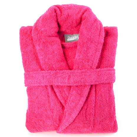 Egyptian Cotton Fuchsia Dressing Gown