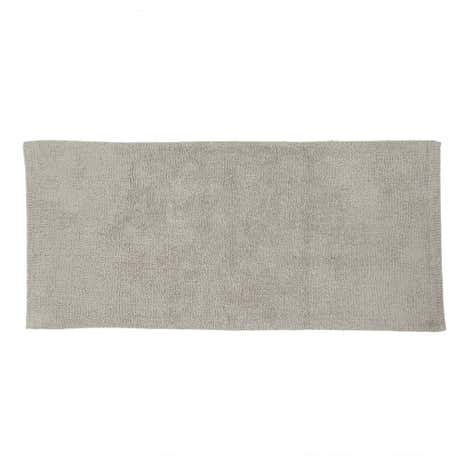 Cotton Tufted Grey Bath Runner