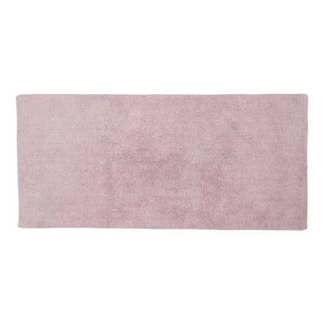 Cotton Tufted Mauve Bath Runner