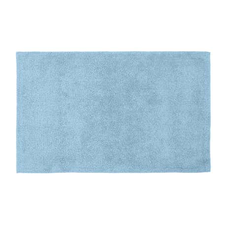 Cotton Tufted Dusk Blue Bath Mat