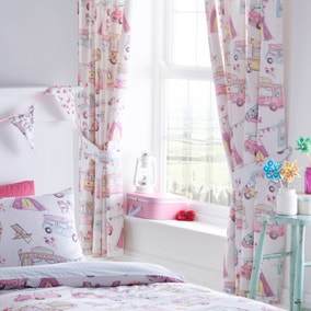 Glamping Pencil Pleat Curtains