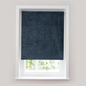 Crushed Velour Midnight Thermal Roller Blind