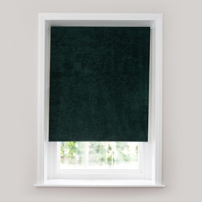 Crushed Velour Emerald Thermal Roller Blind