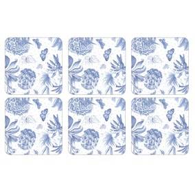 Pimpernel by Portmeirion Botanic Blue Pack of 6 Coasters