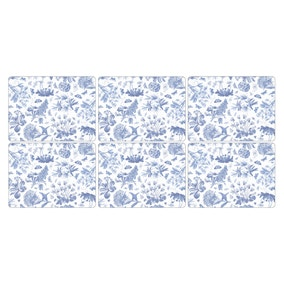 Pimpernel by Portmeirion Botanic Blue Pack of 6 Placemats